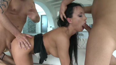 Busty and bootylicious Samantha Rebeka awesome threesome