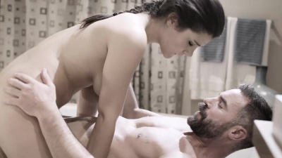 Wealthy man intimidates his European maid Valentina Nappi into cleaning for him in the nude