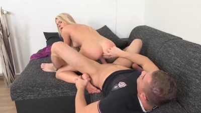 Martina makes lots of lusty faces to show how much fun she's having with a big boner inside her