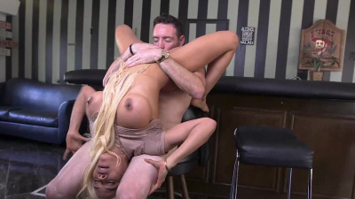 Smokin hot Luna Star demonstrates her pole riding ability
