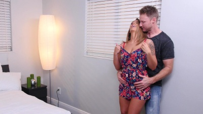 Layla London fucking & cum draining her bff's brother in the bedroom
