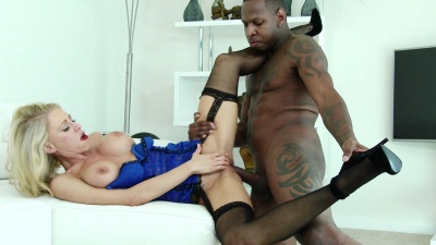 Blondie Katie Morgan cuckolds husband with bbc bull