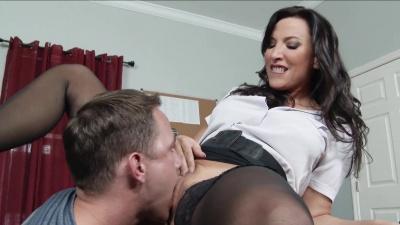 Professor Lezley Zen takes her student's dick & cum in the classroom