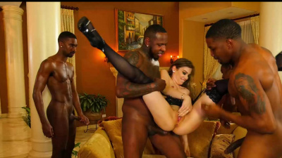 Bobbi Dylan trying to hit new orgasmic high with three black studs