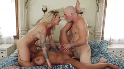 Two gorgeous ladies - Isabellle Deltore and Bridgette B – getting down and dirty