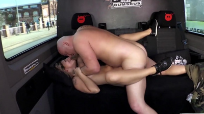 Naughty lwhore Kattie Hill gets fucked in the backseat