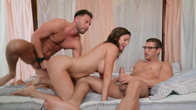 Alexis Fawx finds sexual enlightenment with two studs