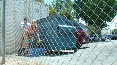 Alexa Grace becomes cum dumpster behind dumpster