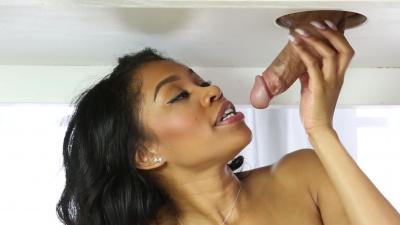 Masseuse Yasmine de Leon shows a special milking technique