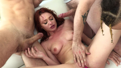 Redhead nymph Lacy Lennon first blowbang ever