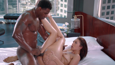 Bella Rolland cheats on her man with black stud