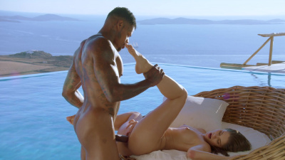 Little Caprice enjoys interracial sex on her vacation