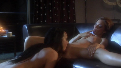 Lovers Alektra Blue and Kirsten Price pleasing each other in the dark