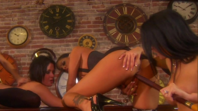 Tory Lane anally fingered by Tanya James and her lesbian friends