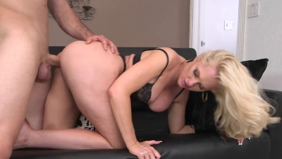 Alena Croft gets manhandled in the office by her fired employee