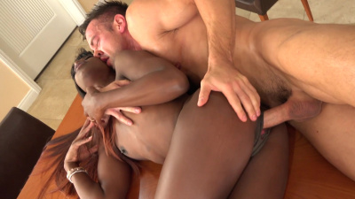 Rule-breaking bad girl Ana Foxx craves white dick