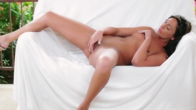 Tiffany Brookes touching herself and having multiple orgasms